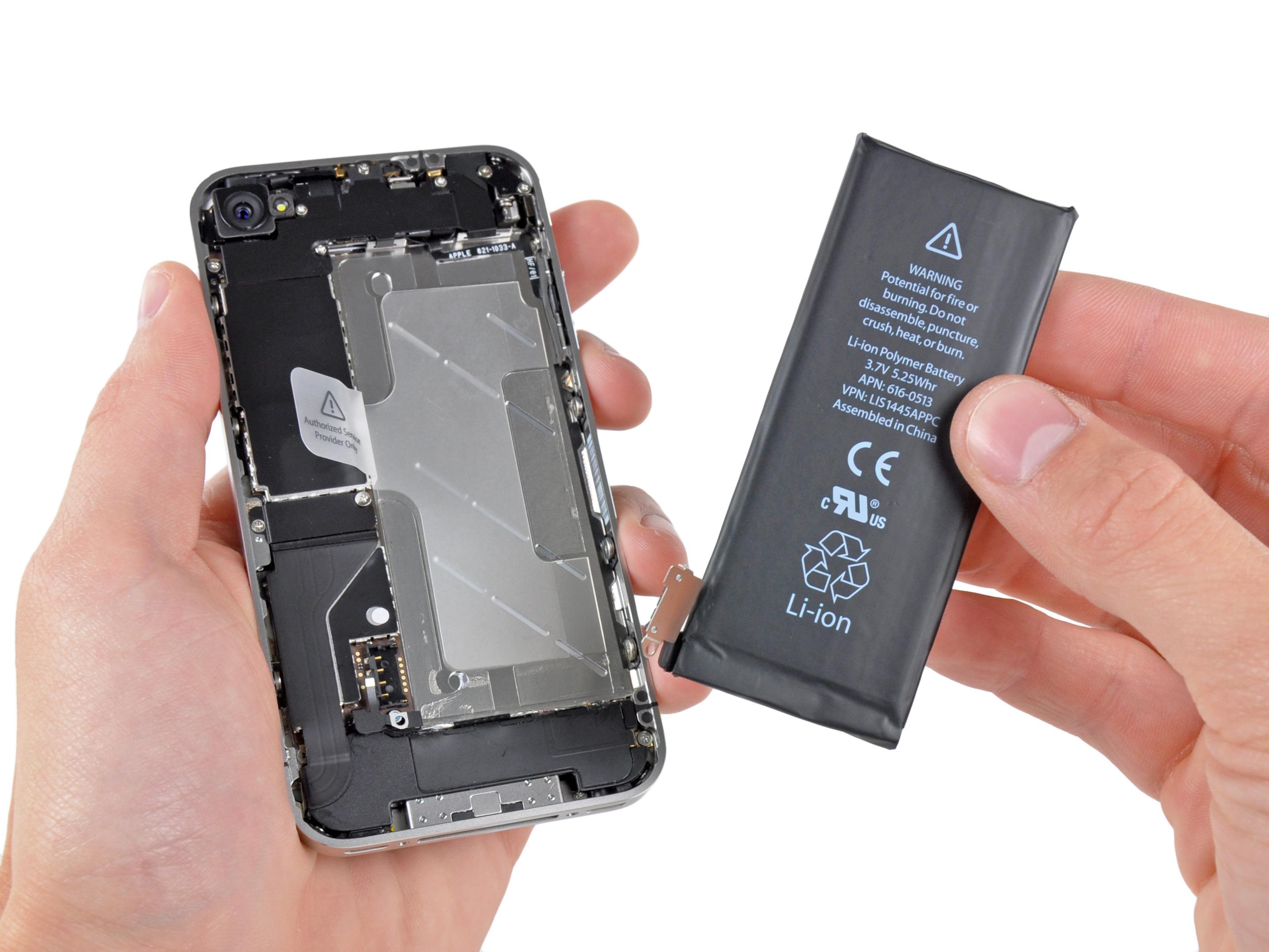 Замена акб айфон 4s