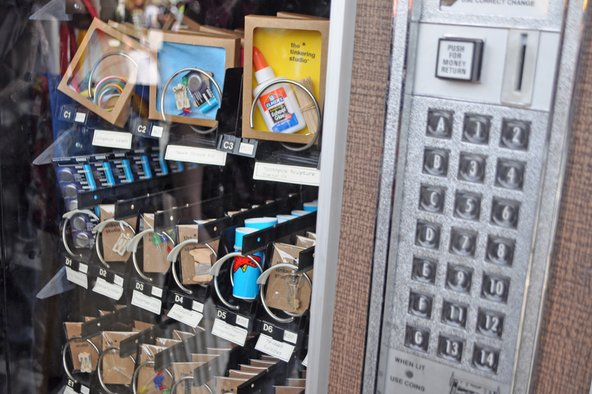 Hacker tool vending machine at Maker Faire