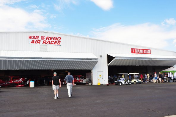 hangars for airplanes at the Reno air races