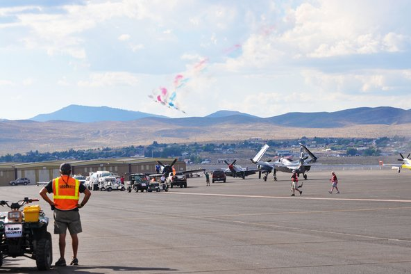 Aerobic airplanes at the Reno Air Races