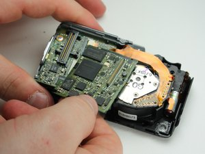 Installing Panasonic Lumix DMC-FX07 Back Panel Buttons