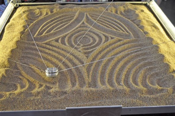 Sand art at Maker Faire