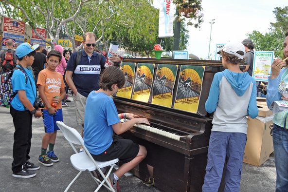 Piano at Maker Faire