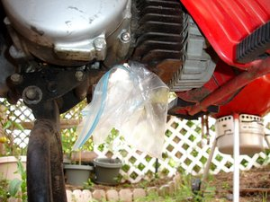 Suzuki FA50 Moped Exhaust Cleaning