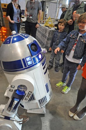 R2D2 figure at Maker Faire