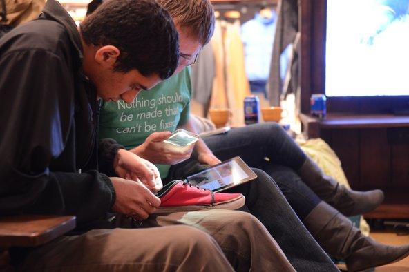 Shoe repair at Patagonia Worn Wear