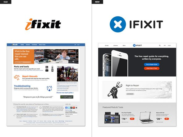 iFixit website redesign