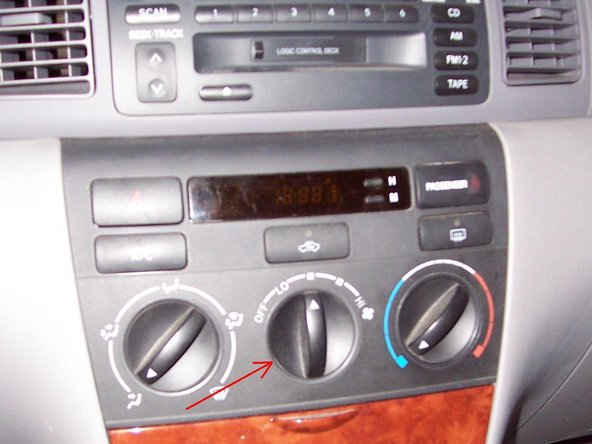 repairing toyota corolla dashboard clock ifixit. Black Bedroom Furniture Sets. Home Design Ideas