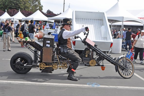 Home-made bike at Maker Faire