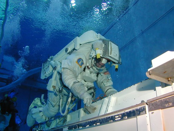 NASA space training for repairs in space