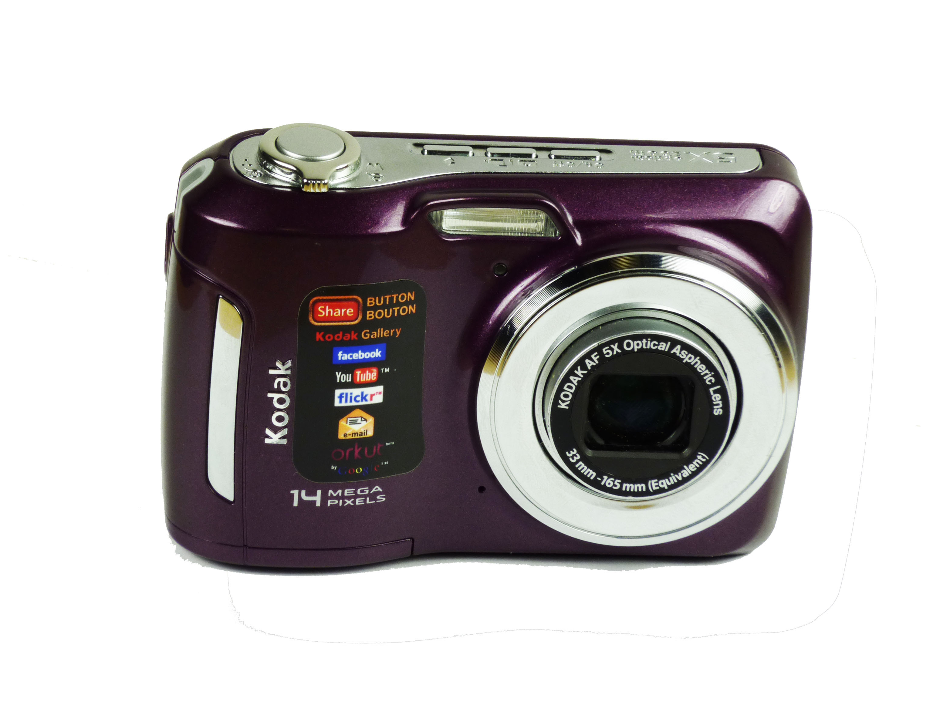 Kodak easyshare c195 14mp digital camera with 5x optical zoom, kodak smart capture  one-button upload!