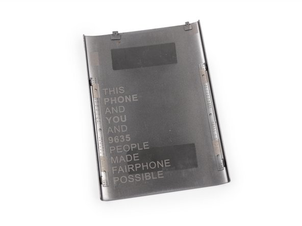 Inside of the Fairphone repairable smartphone