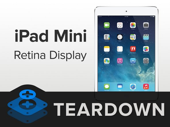 iPad Mini Retina Display teardown banner