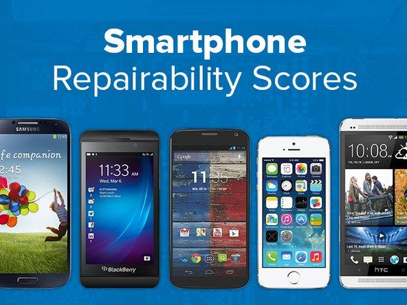 Smartphone repairability scores