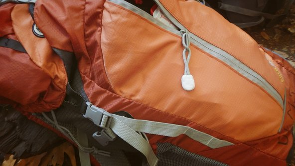 Using Sugru to fix a backpack in Big Sur