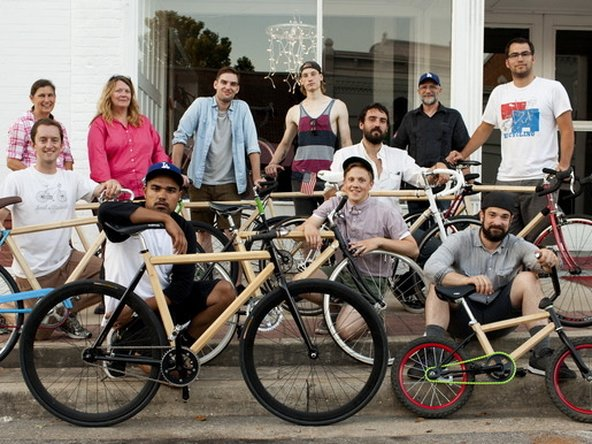 The Semester Bike Project with their bamboo bikes