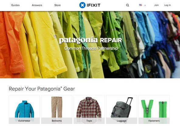 iFixit Patagonia repair manual
