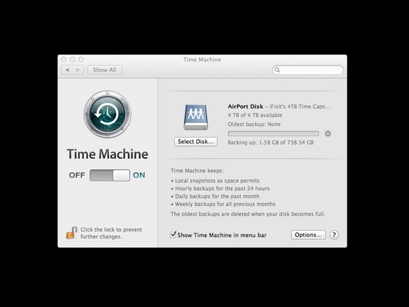 Airport Time Capsule disc on the Mac