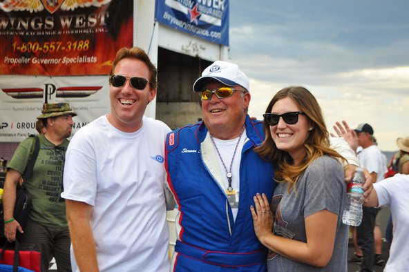 Czech Mate pilot with his family at the Reno Air Races
