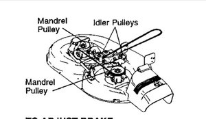 T24878716 Need drive belt diagram toro ss 5000 besides 337259 moreover Craftsman Lt 2000 Parts   Parts Sears   Partsdirect Part Model furthermore Drive belt spring john deere z445 attach likewise Scotts Riding Mower Diagram. on replace belt on craftsman riding mower deck