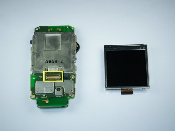The LCD should easily separate from the phone at this point.