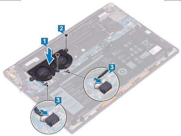 Remplacement des ventilateurs sur le Dell XPS 13 9380