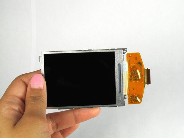 Separate the LCD from the back panel.