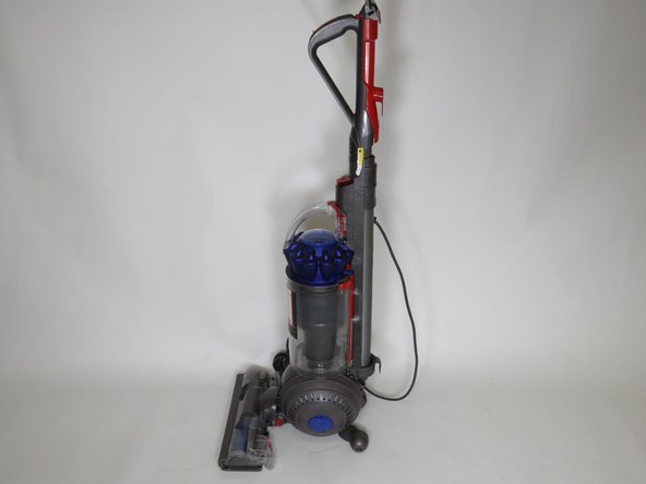 Turn off power and unplug the vacuum, then turn the vacuum to look at the hose.