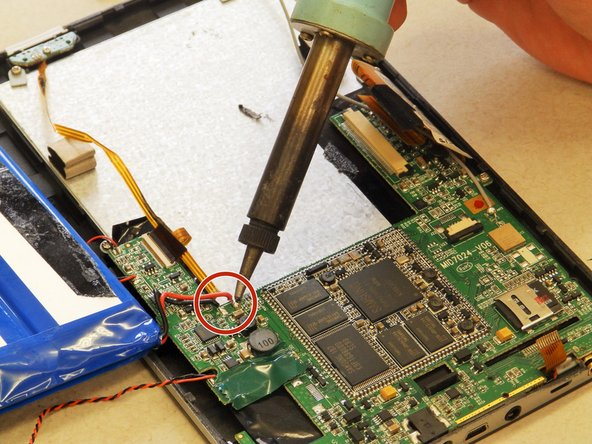 Follow the guide on soldering to assist you in removing the battery.