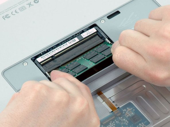 Image 1/1: If there are two RAM chips installed, repeat the above procedure for the second chip.