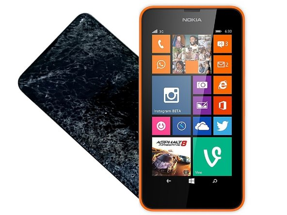 Nokia Lumia 635 630 Display Assembly Replacement with Frame