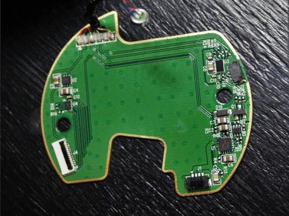 After completing a  visual inspection the circuit board for any signs of component failure (discoloration, burn marks, melted exteriors, etc.), it was time to look to the other earcup for answers.
