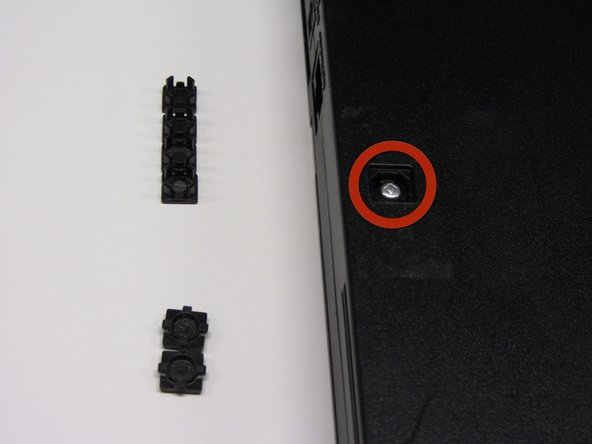 After all of the feet have been removed, locate the six 4.0mm screws on the base of the PS2.