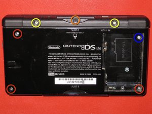 Disassembling Nintendo DS Lite Bottom Case