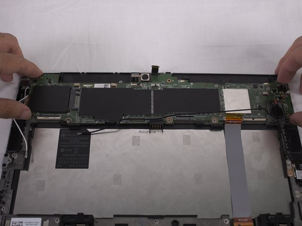 Finally the motherboard can be lifted out by hand.