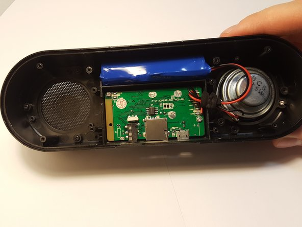 Image 2/2: Be careful not remove other components in the speaker