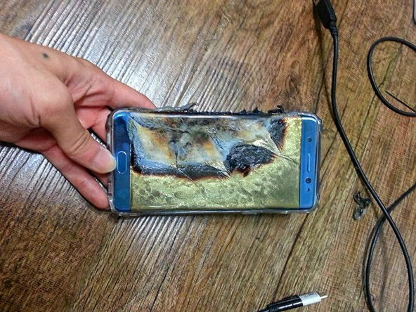 exploded lithium-ion battery