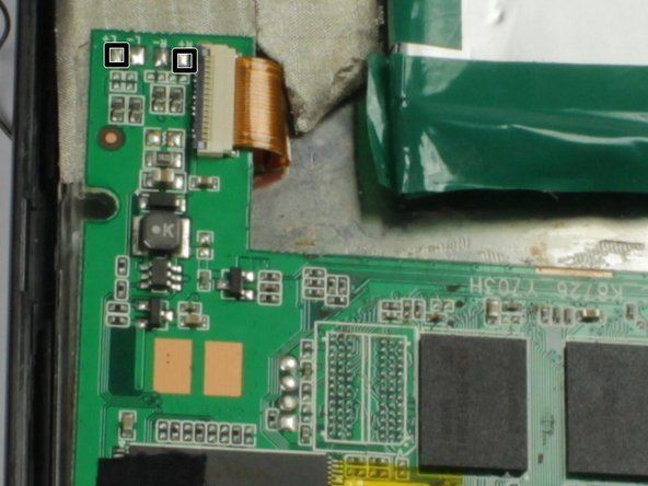 Solder the black cable of the left speaker to the nodule marked L+ on the motherboard.