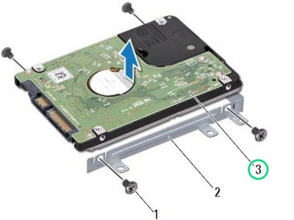 Place the hard drive in the hard-drive bracket.