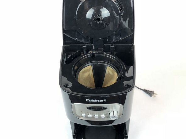 Open the top lid of your coffeemaker