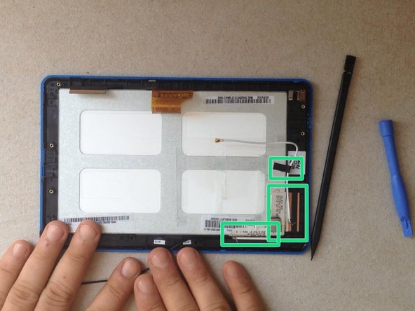 Remove all tapes from the LCD display metal shield.