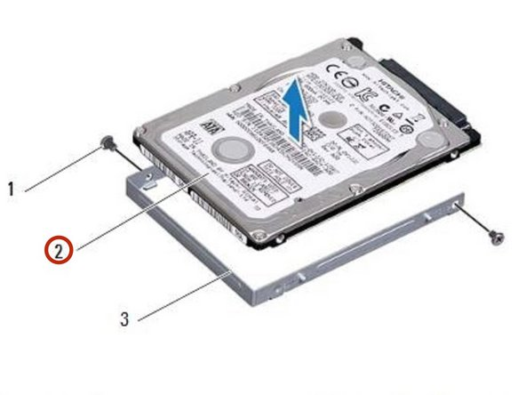 Lift the hard drive out of the hard-drive bracket.
