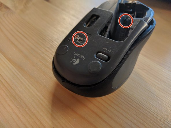 I had two of these mouses and one of them had a screw hidden under the CE sticker so make sure you check it out before opening the mouse apart