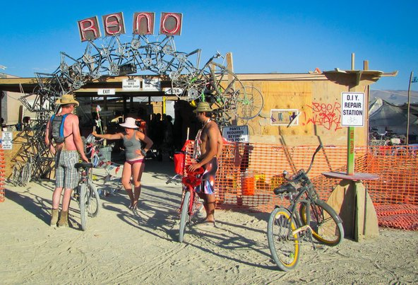 Black Rock City Bike Repair Shop at Burning Man
