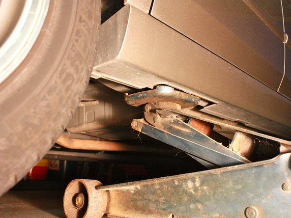 Make sure that you are not pressed against the plastic and you are directly on the metal frame of the vehicle.