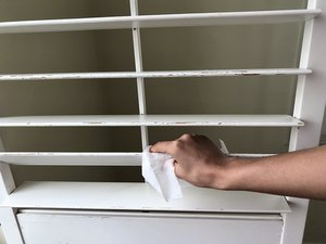 How to Fix a Loose Louver in Wooden Sliding Shutters