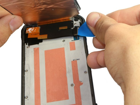 Image 2/3: Safely remove the front panel assembly from phone.