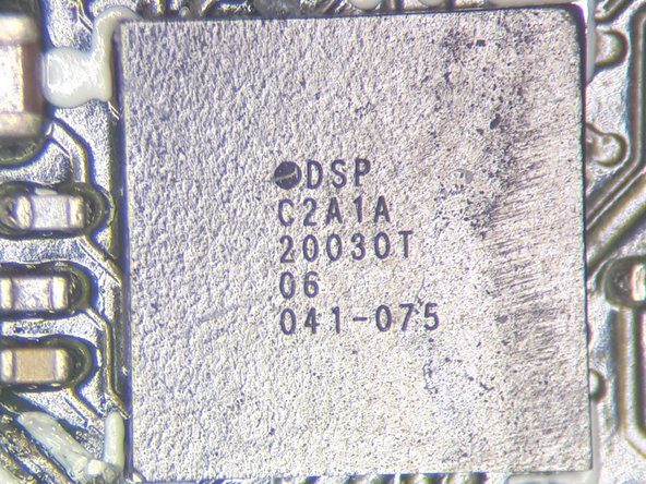 Closeup view of some of the components on the Antenna/Touch Sensor side of the Main PCB