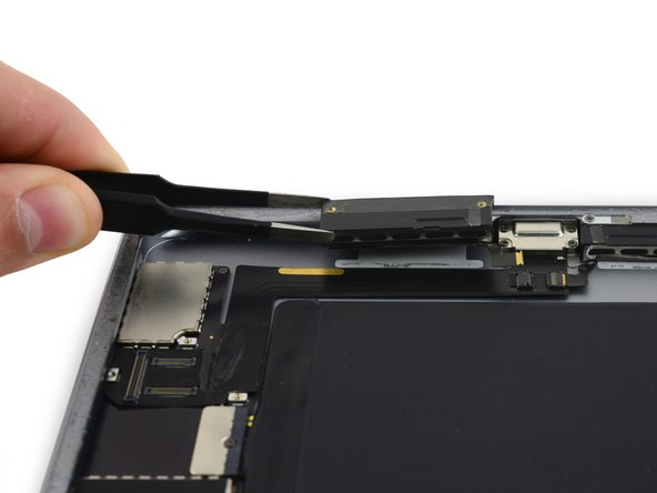 Remove the right speaker from the iPad.