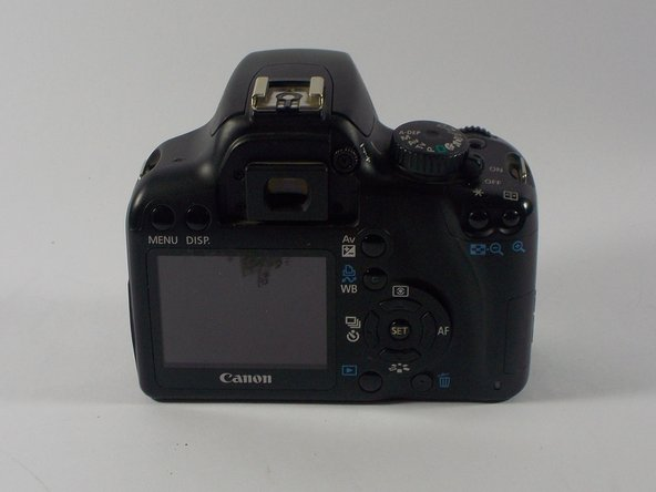 Disassembling Canon EOS Rebel XS Back Cover
